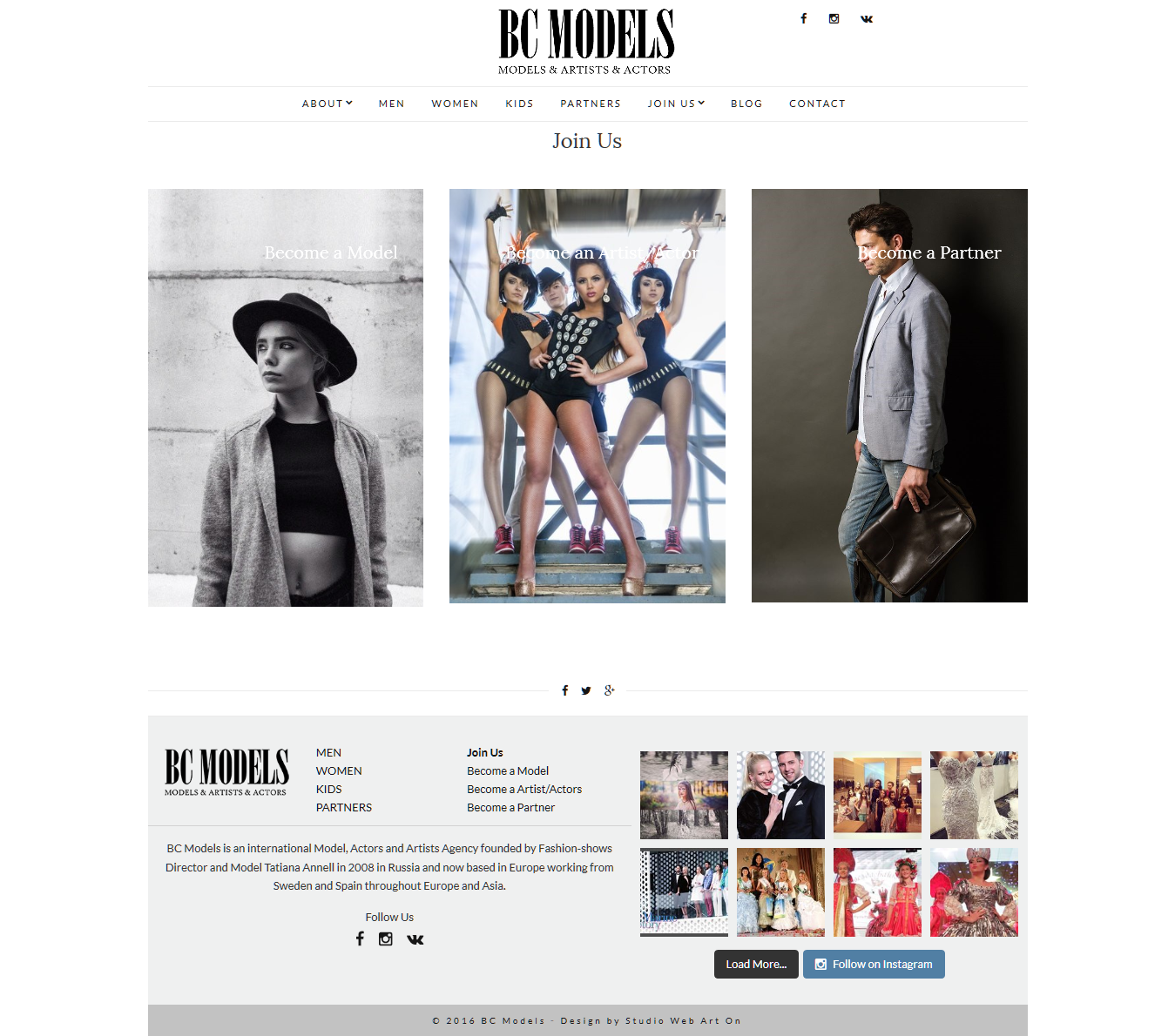 Diesño web BCmodels join us